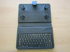 Bluetooth Keyboard Carry Case with Stand for HP Slate 7 Inch Red Tablet PC 8GB