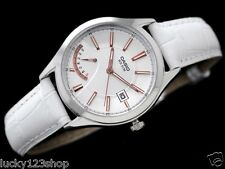 LTP-E102L-7A White Casio Watches Lady Genuine Leather Band 50M Date Women's New