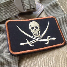 USMC INFIDEL JOLLY ROGER FLAG PIRATE SKULL WITH CROSS SWORDS BIKER VELCRO Patch