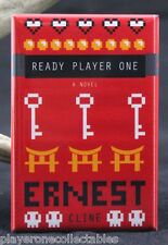 "Ready Player One Book Cover 2"" X 3"" Fridge / Locker Magnet. Ernest Cline"