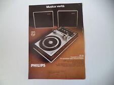 advertising Pubblicità 1973 GIRADISCHI PIATTO PHILIPS GF 815