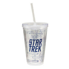80251 Star Trek 18 oz Acrylic Travel Cup w/straw Movie Show Space Kitchen Drink