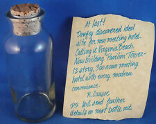 ROBINSON CRUSOE,MESSAGE IN A BOTTLE VIRGINIA BEACH PAVILION TOWER HOTEL PROMO