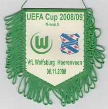 Orig.Wimpel   UEFA Cup   2008/09   VfL WOLFSBURG - SC HEERENVEEN  !!  SELTEN