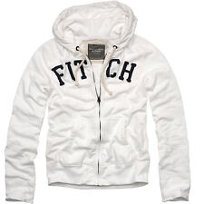 ABERCROMBIE AND FITCH SEYMOUR MOUNTAIN HOODIE JACKET SIZE Medium M White Men's!!