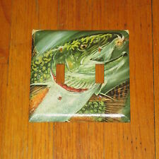BIG NATIVE COLORADO TROUT FISH FLY FISHING 2 HOLE LIGHT SWITCH COVER PLATE
