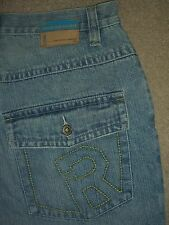 ROCA WEAR Baggy Loose 6 Pockets Light Blue Denim Jeans Mens Size 32