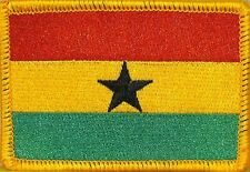 GHANA Flag Military Patch With VELCRO® Brand Fastener GOLD BORDER #4