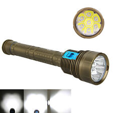 Waterproof 12000LM 7x CREE XM-L2 LED SKYRAY Scuba Diving Flashlight Torch Light