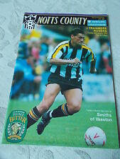 26.1.93 Notts County v Tranmere Rovers programme