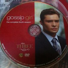 Gossip Girl Season 4 Disc 3 Replacement Disc  DVD ONLY