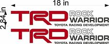 TOYOTA TRD Rock Warrior Decals / Stickers PAIR / truck bed / USA vinyl graphics