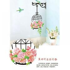Room Mural Art Decor Kids' Room Wall Sticker Flower Wallpaper Birds Cage