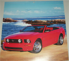 2005 Ford Mustang GT Convertible car print (red, no top)
