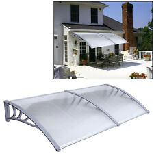 1mx2m DIY Outdoor Polycarbonate Front Door Window Awning Patio Cover Canopy