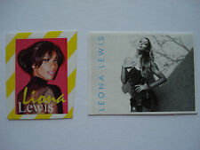 Leona Lewis  ___  2 Sticker / Aufkleber   ___  Sammlung / Collection