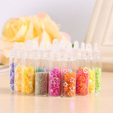 20 Bottles Nail Art Decoration Beads Caviar Balls Glitter Sequins Manicure Tools