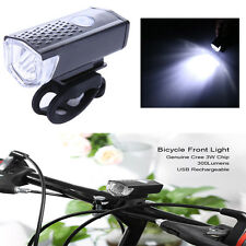300LM Cycling Bicycle CREE LED Lamp USB Rechargeable Bike Front Light Waterproof
