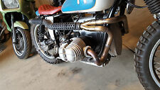 BMW R80 R90 R100 Airhead Exhaust System | Custom Stainless 2-into-1 High Pipe