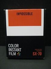 Impossible SX 70 Color film polaroid cameras (1 pack of film)