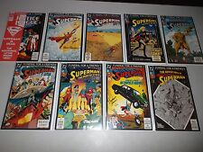 Death of Superman (Funeral For a Friend) Full 8 part arc signed w/COA DF lot 76