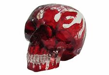 New Solid Clear Cast Red Flames Resin Human Skull DIY Shift Knob Rat Rod Lever