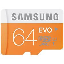 Samsung EVO Transflash Micro SD 64Go Class 10 SDXC Carte Mémoire 64 Go 64GB 64G