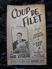Partition Coup de filet Gus Viseur Valse  Etienne Luc
