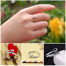Women 925 Sterling Silver Ring Finger Fashion Lady Ring Opening Adjustable HOT