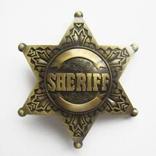POLICE COPS SHERIFF LAW ENFORMENT WESTERN COWBOY BELT BUCKLE