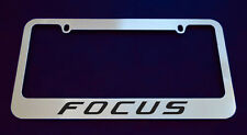 2 FORD FOCUS LICENSE PLATE FRAME, CUSTOM MADE OF CHROME 2 Frames (Zinc Metal)