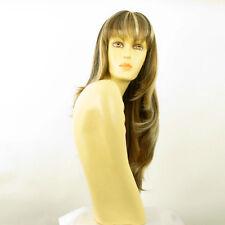 Perruque femme longue méchée blond clair méché cuivré chocolat NOEMIE 15613H4
