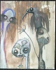 GUS FINK outsider ORIGINAL Poe lowbrow A CROW'S LESSON