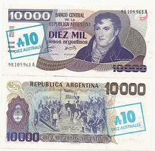 Argentina Australes 10.00 On 10000 Nd(1985) P-322 Unc 15 Pcs