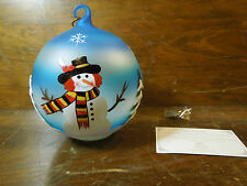 Sorelle Winter Sky Snowman Hand Crafted Painted Glass Globe