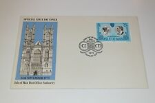 Isle of Man 1973 Royal Wedding FDC 14 November 1973, Free Postage (with insert)