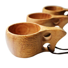 Creative Rubberwood Wooden Cup Survival Bushcraft Camping Kuksa Kasa Curly Mug