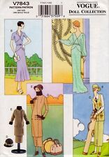"Vogue 7843 11.5"" Vintage Retro Fashion Doll Clothes Pattern  1920's 1930's OOP"