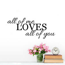 All Of Me Love All Of You Quote Vinyl Wall Sticker Vinyl Art  Bedroom Removable