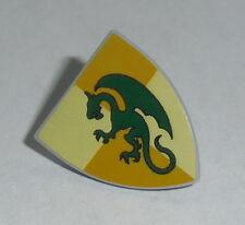 SHIELD Lego Triangular with Dark Green Dragon Pattern  NEW 7946,7189