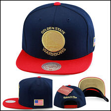 Mitchell & Ness Golden State Warriors Snapback Hat NAVY/USA jordan 6 7 olympic
