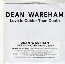 (ED298) Dean Wareham, Love Is Colder Than Death  - 2013 DJ CD