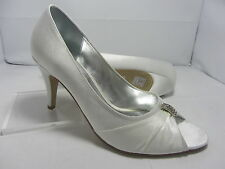 Ladies Shoes Size 6 Ivory Wedding Bridal Party Prom Evening (G26/3-12)