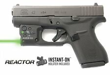 Viridian Reactor 5 Instant-On w/ Holster Green Laser Sights Glock 42 - R5-G42