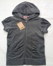 NWT Juicy Couture New & Genuine Ladies Small Grey S/S Velour Hoodie UK 8 - 10