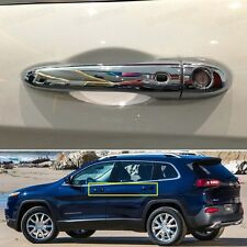 Chrome Smart Outer Side Car Door Handle Cover Trim for Jeep Cherokee 2013-2016