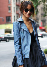 NWT NASTY GAL BLUE UNIF STUDDED MOTO JACKET SIZE S SOLD OUT ASO SINCERELY JULES