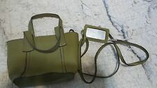 Nine West Small Olive Green Hand Bag with Shoulder Strap with Mirror on Strap