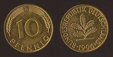 GERMANIA GERMANY 10 PFENNIG 1996 D