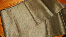 Taupe Peach Stria Print Upholstery Fabric Remnant 1 Yard  F45